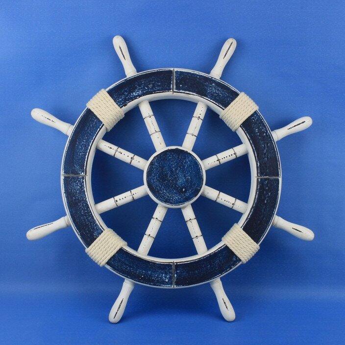 Handcrafted Nautical Decor Rustic Ship Wheel Wall Décor