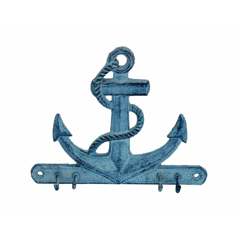 Handcrafted nautical decor anchor 7 rustic silver cast for Anchor decor