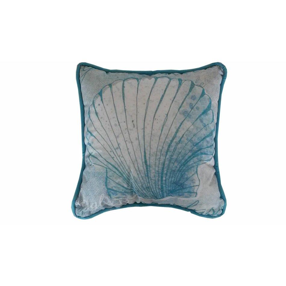 Handcrafted Nautical Decor Seashell Throw Pillow & Reviews Wayfair