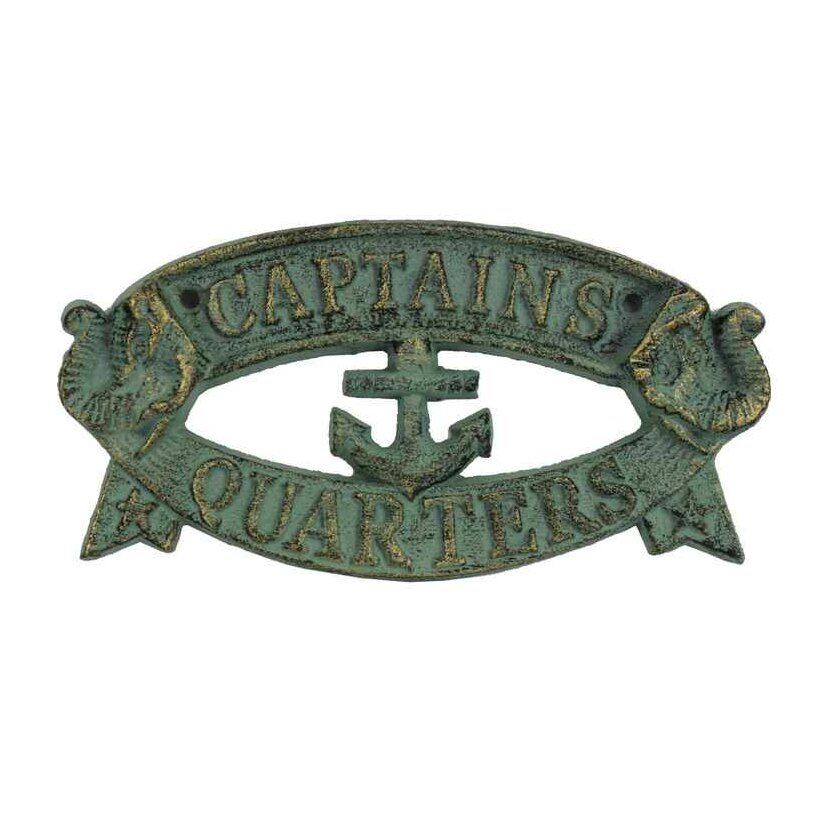 Handcrafted nautical decor captains quarters sign wall for Decor quarters