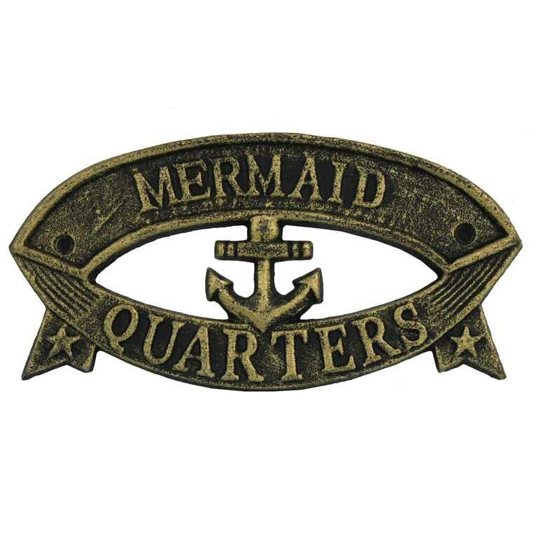 Handcrafted nautical decor mermaid quarters sign wall for Decor quarters