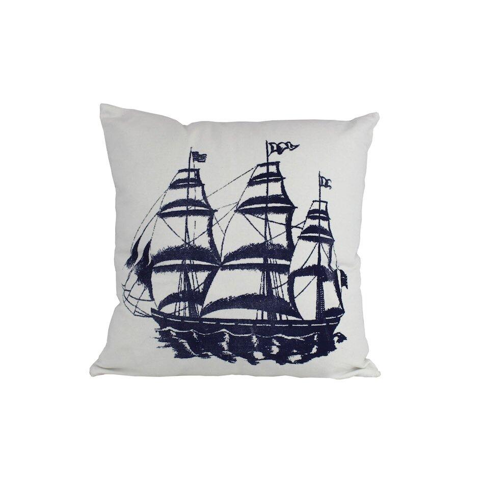 Handcrafted Nautical Decor Tall Ship Nautical Throw Pillow & Reviews Wayfair.ca