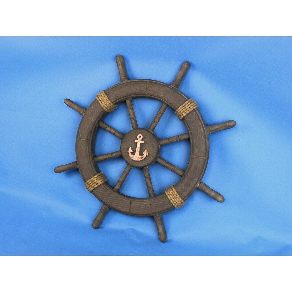 Nautical Wheel Decor: Handcrafted Nautical Decor Antique Decorative Ship Wheel