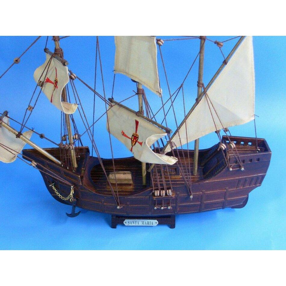 Handcrafted Nautical Decor Santa Maria Model Ship Reviews Wayfair