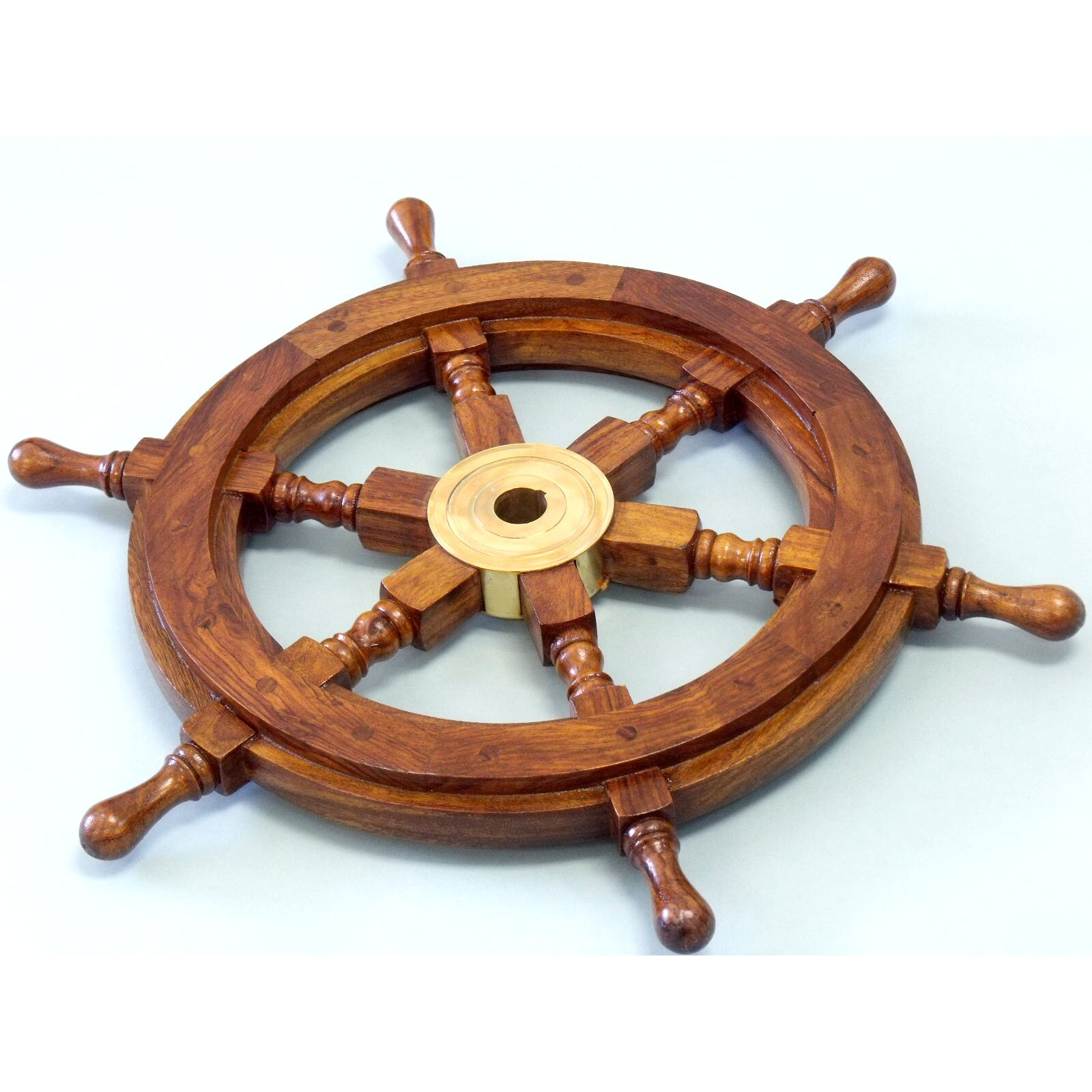 Nautical Wheel Decor: Handcrafted Nautical Decor Deluxe Class Ship Wheel Wall