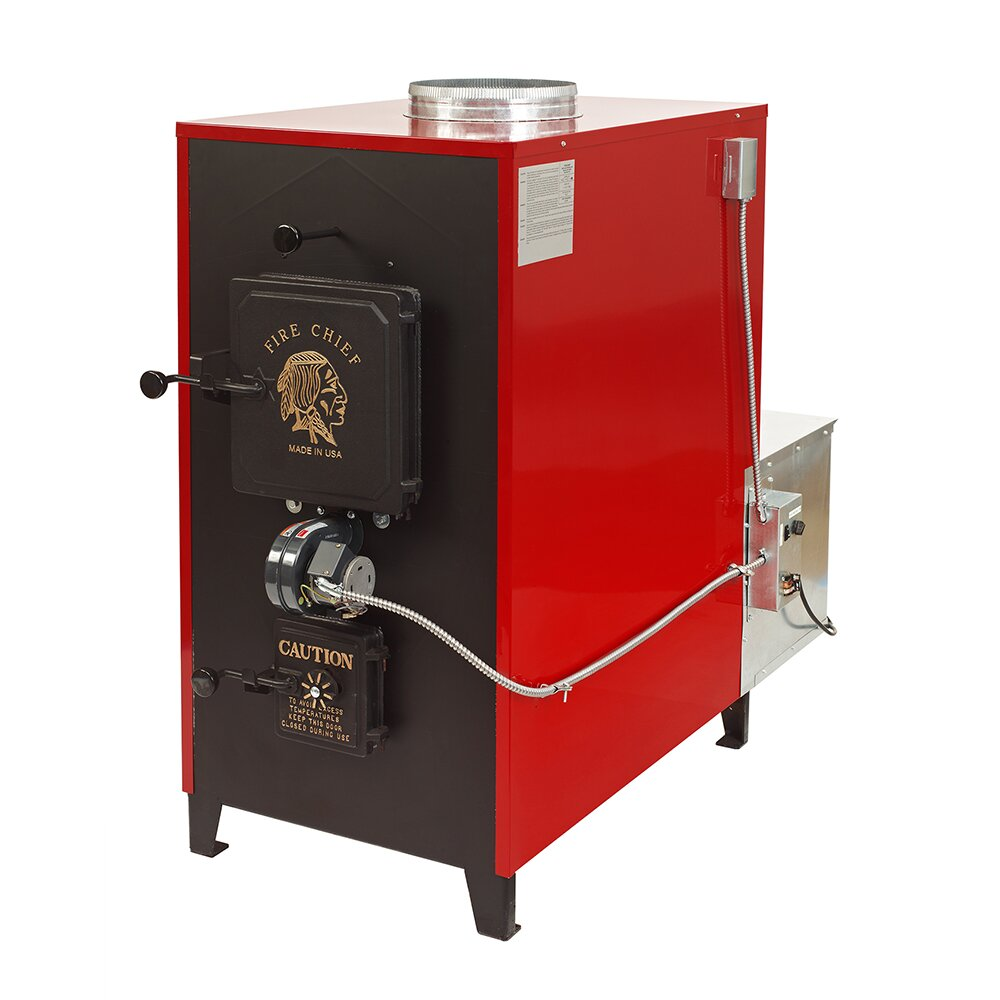 Fire Chief 150 000 Btu Indoor Wood Coal Burning Forced Air
