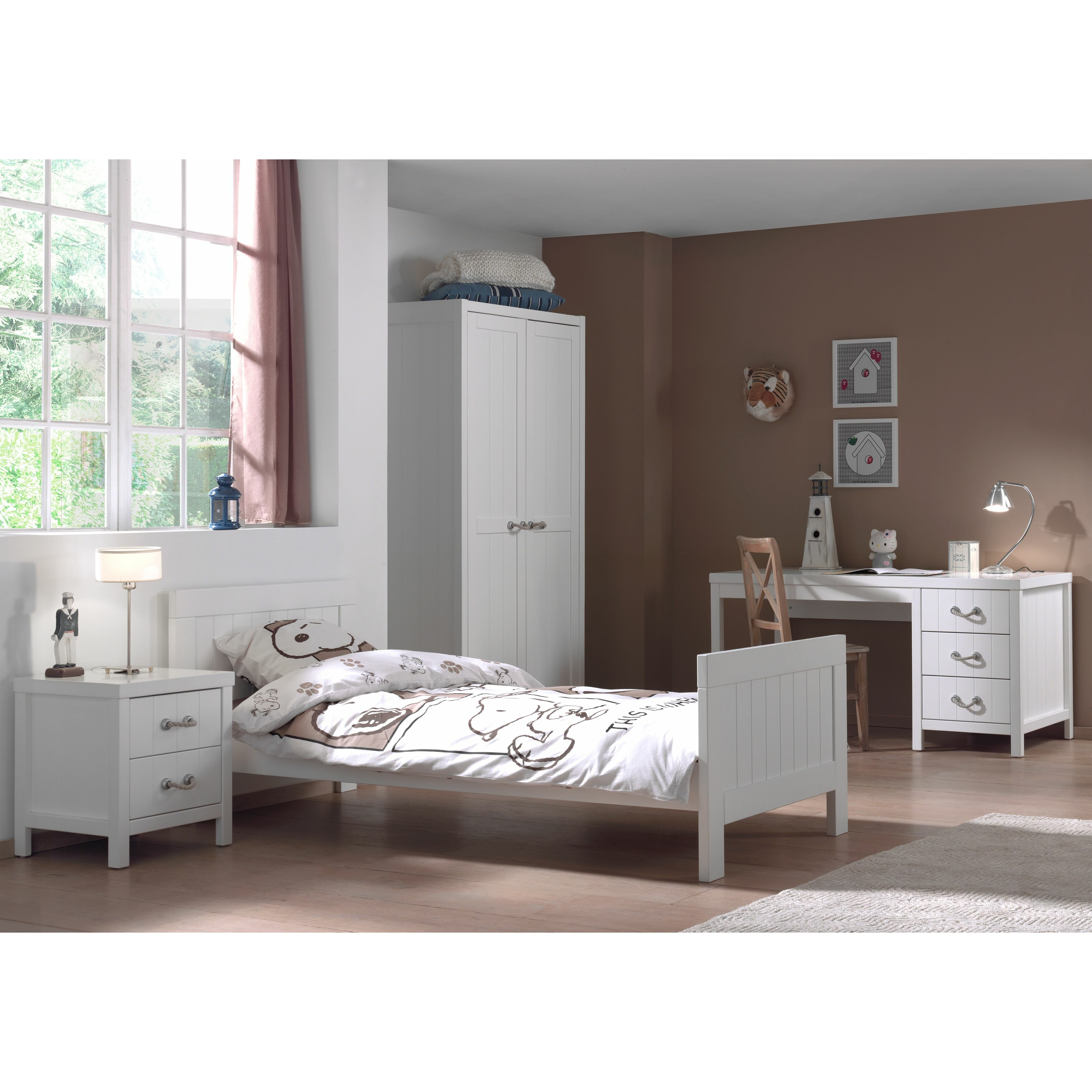 Vipack lewis 4 piece bedroom set wayfair uk for 4 piece bedroom furniture set