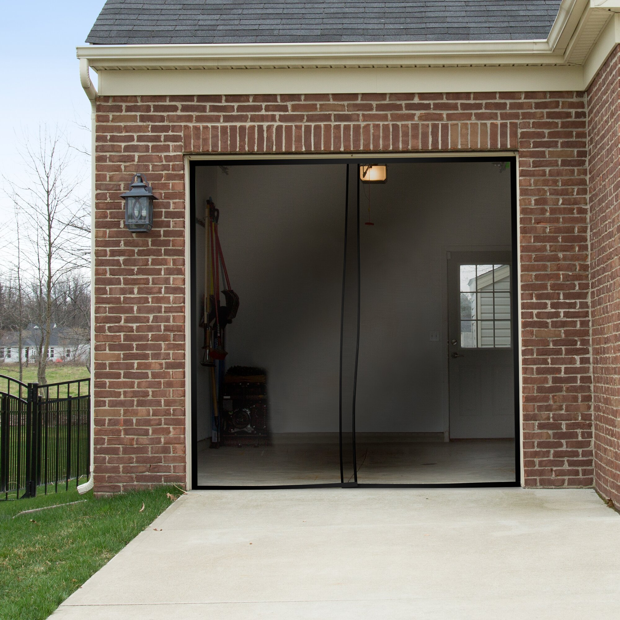 Pure garden 2 piece one car garage screen door reviews 2 car garage doors