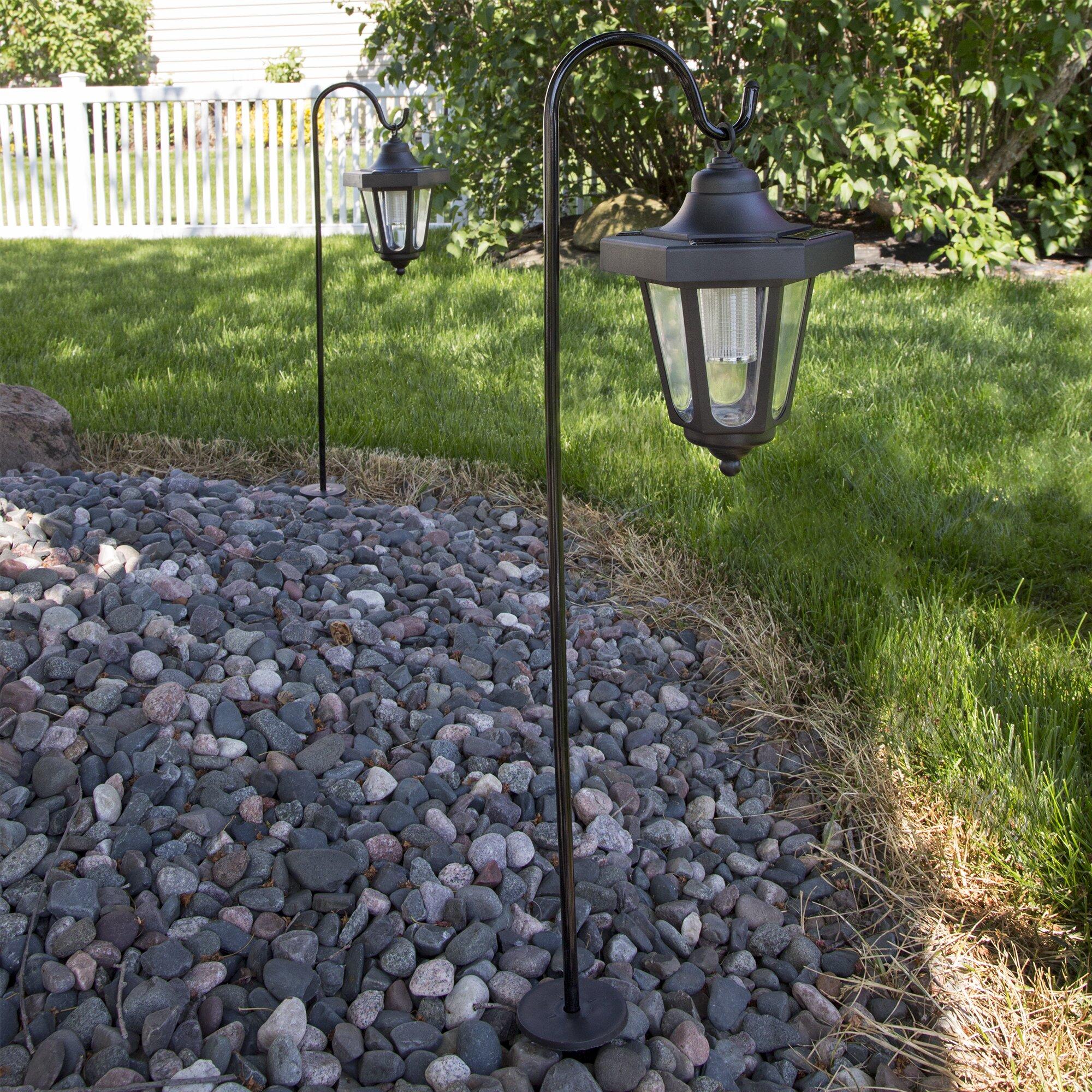 Pure Garden Solar Powered LED Coach 1 Light Post Lantern