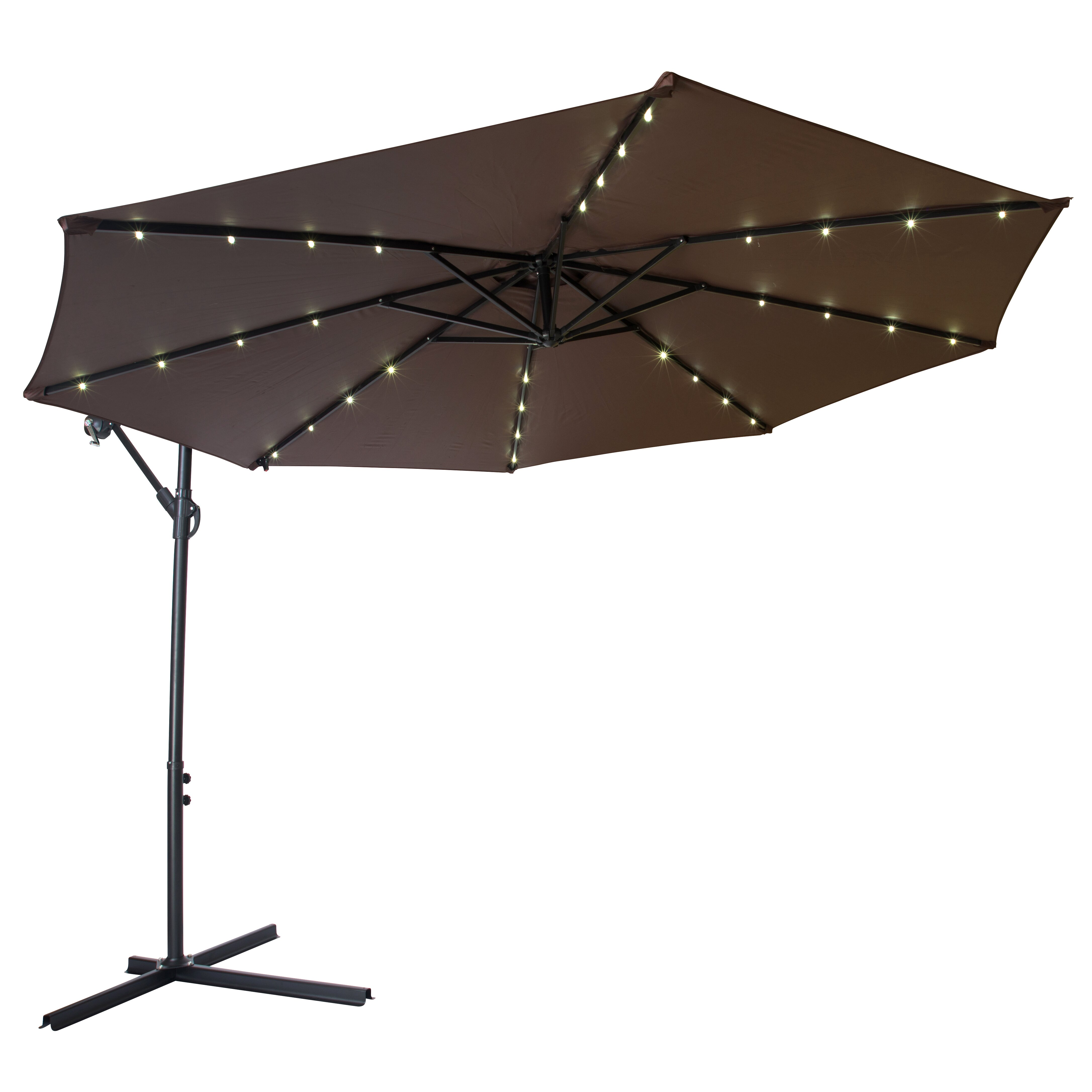 Trademark Innovations 10 Deluxe Cantilever Umbrella