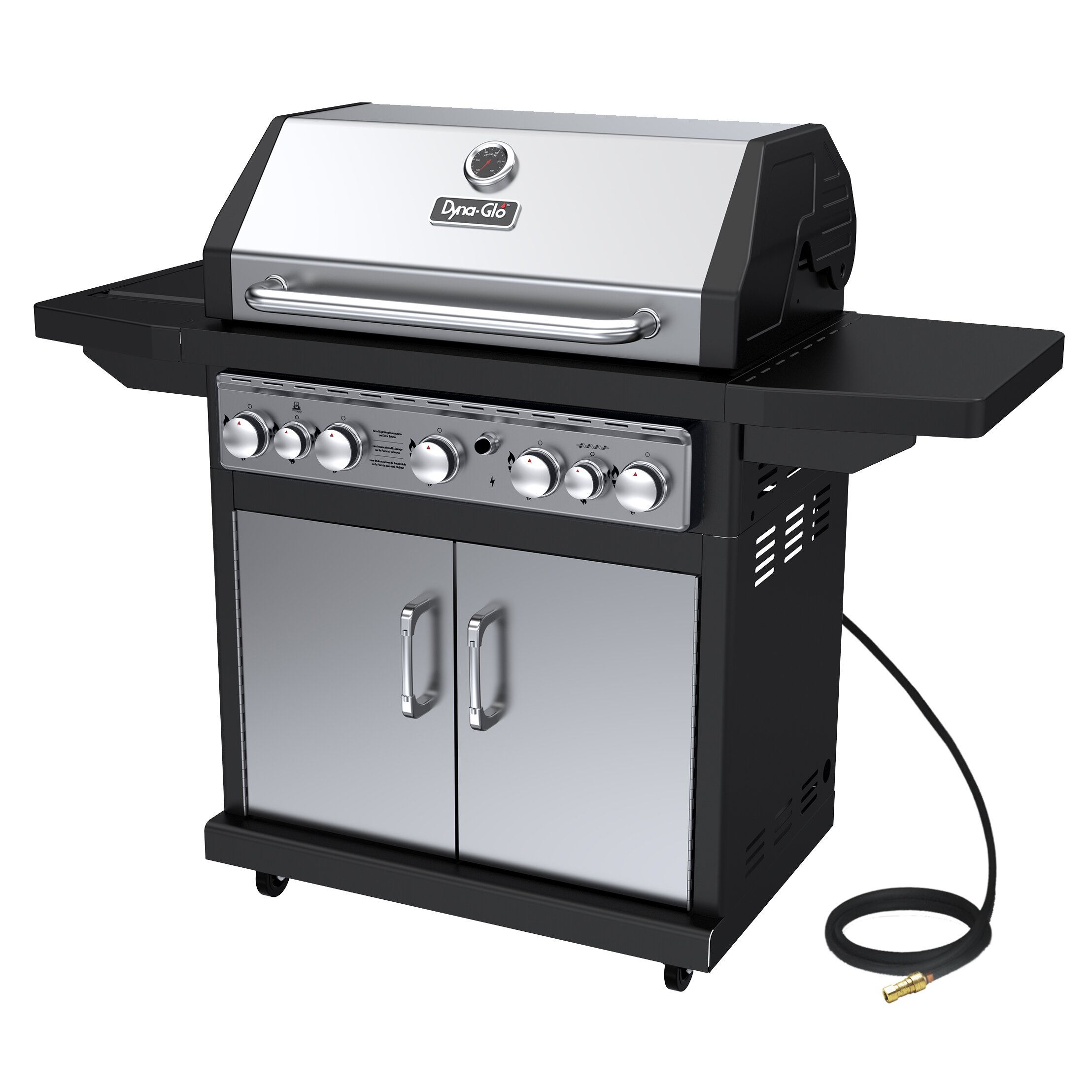 Burner Natural Gas Grill With Side Burner