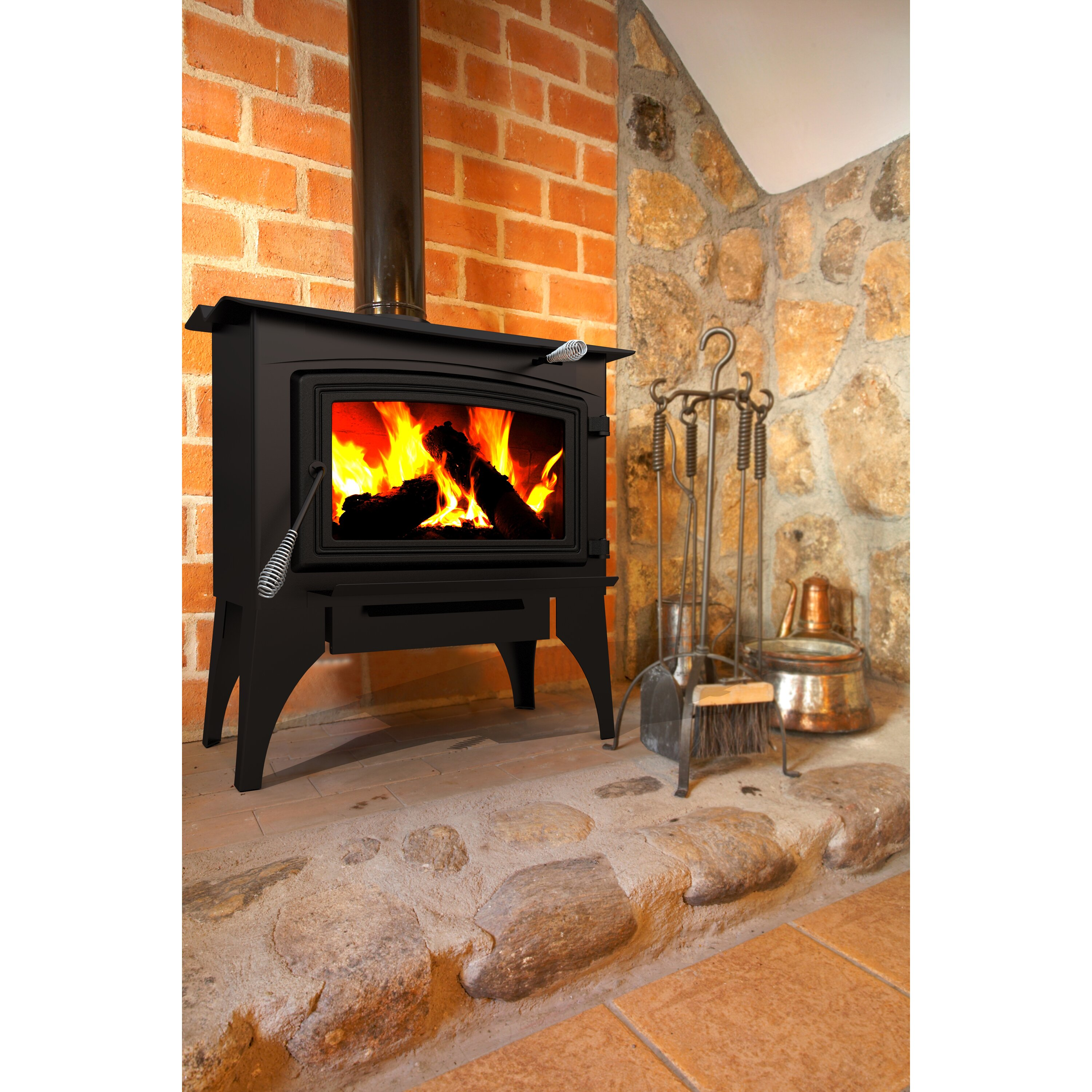 dyna glo pleasant hearth wood burning fireplace wayfair