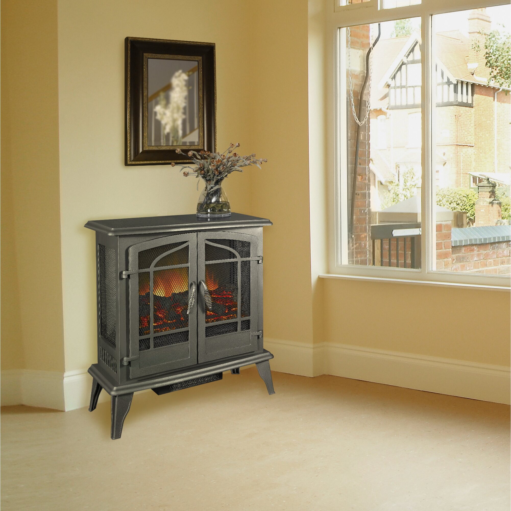 Pleasant Hearth: Pleasant Hearth 400 Square Foot Panoramic View Stove
