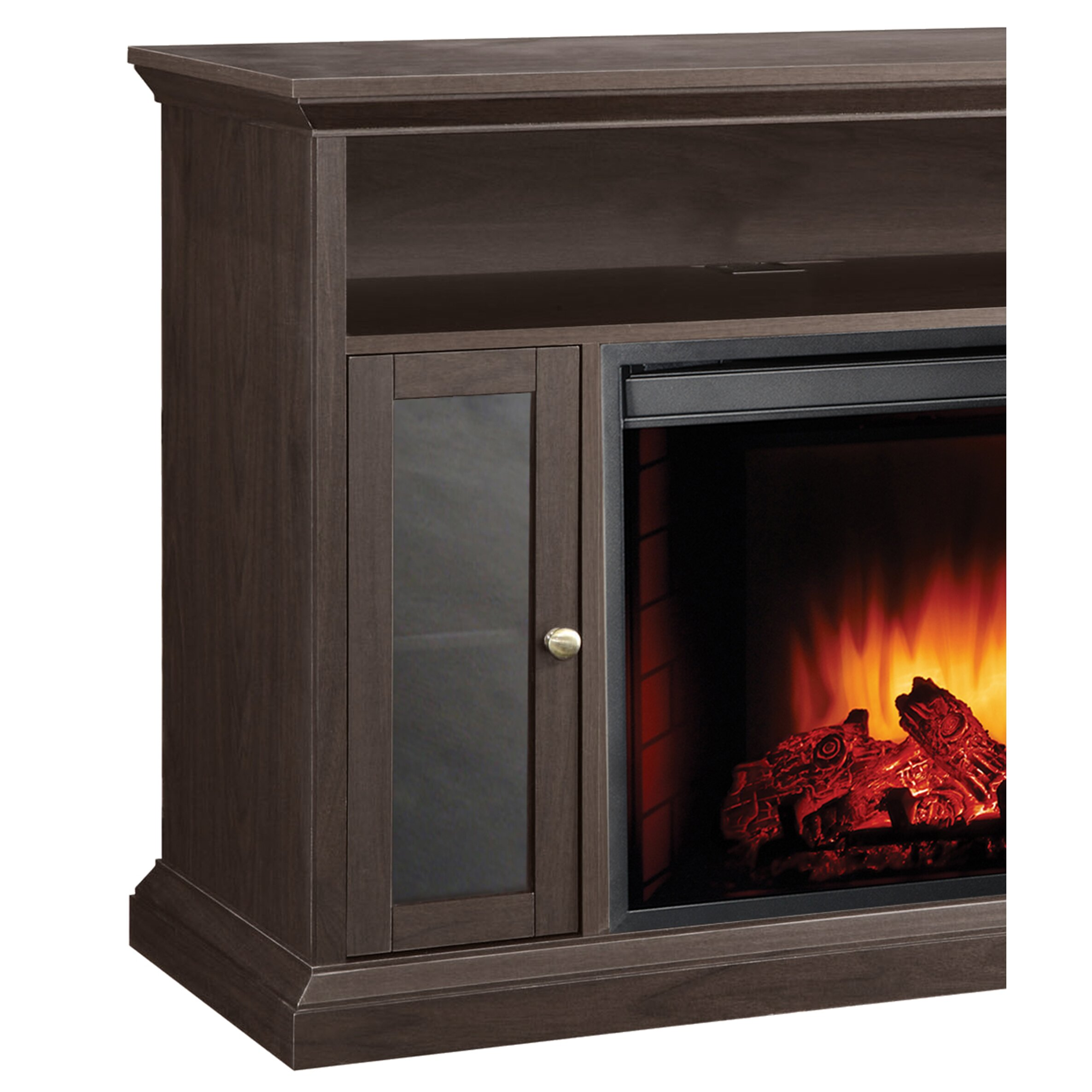 Hearth Cabinet Fireplaces: Pleasant Hearth Riley Media Cabinet Electric Fireplace