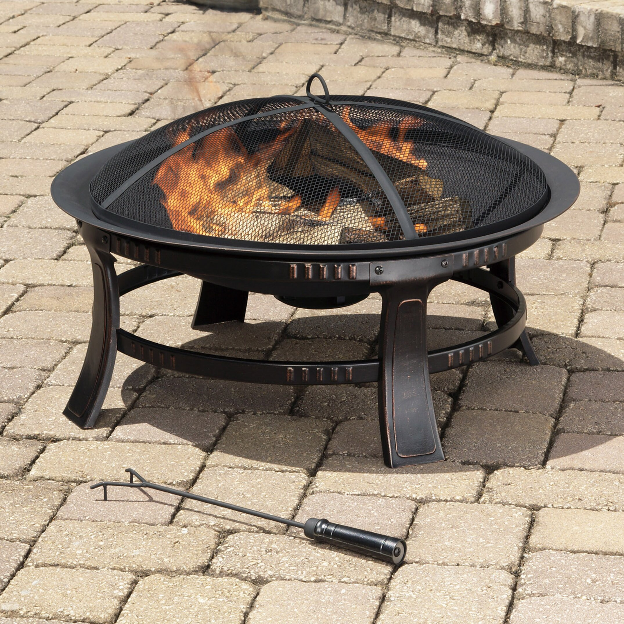 Pleasant Hearth Brant Wood Burning Circular Fire Pit In