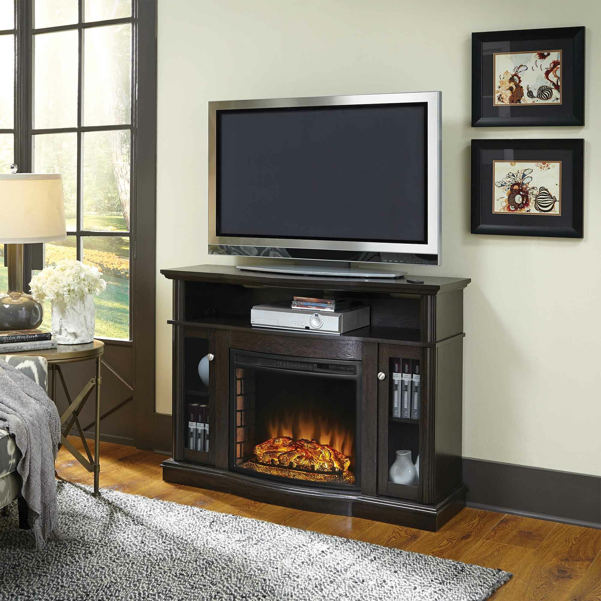 Pleasant Hearth Media Electric Fireplace Reviews Wayfair