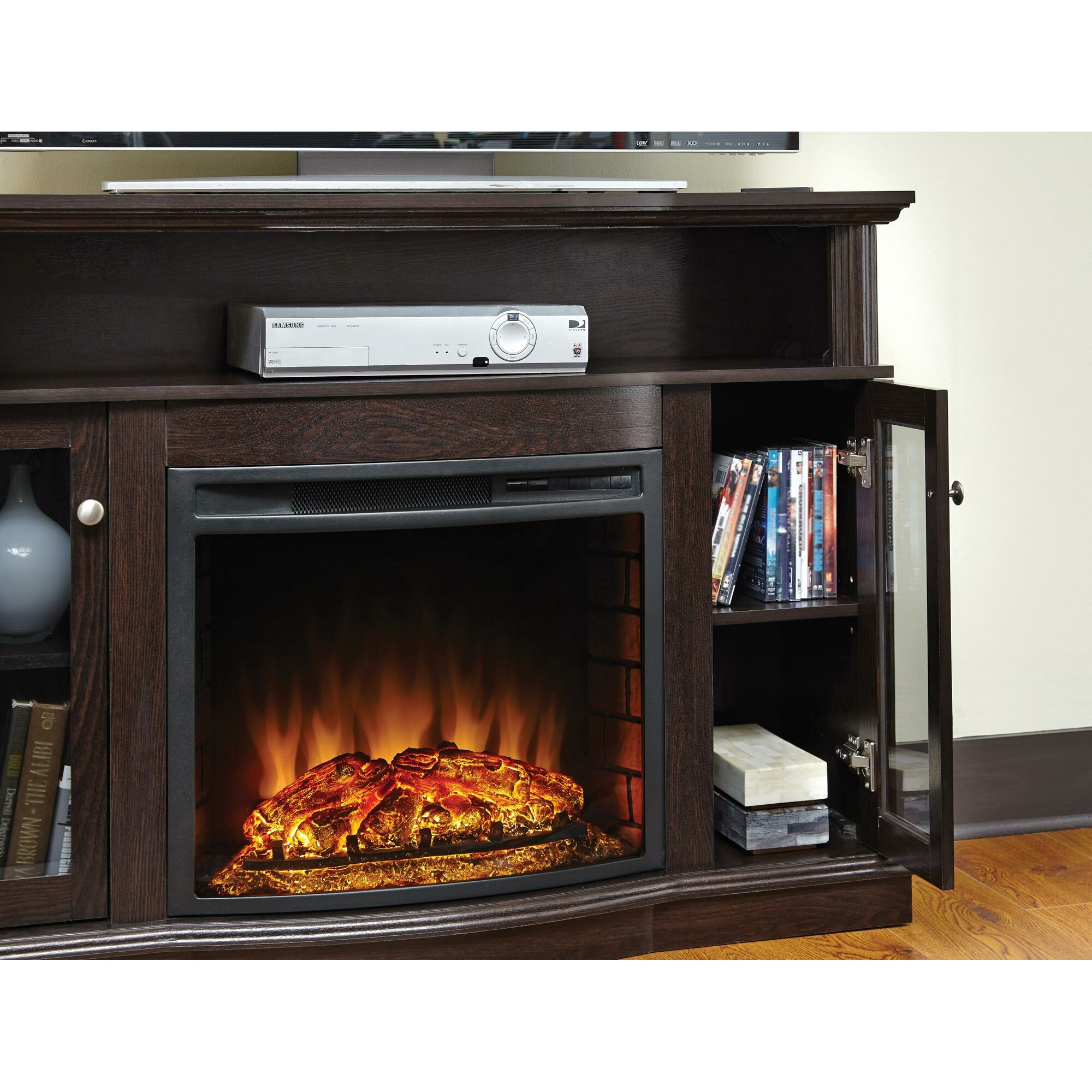 Fireplace Hearth: Pleasant Hearth Media Electric Fireplace & Reviews
