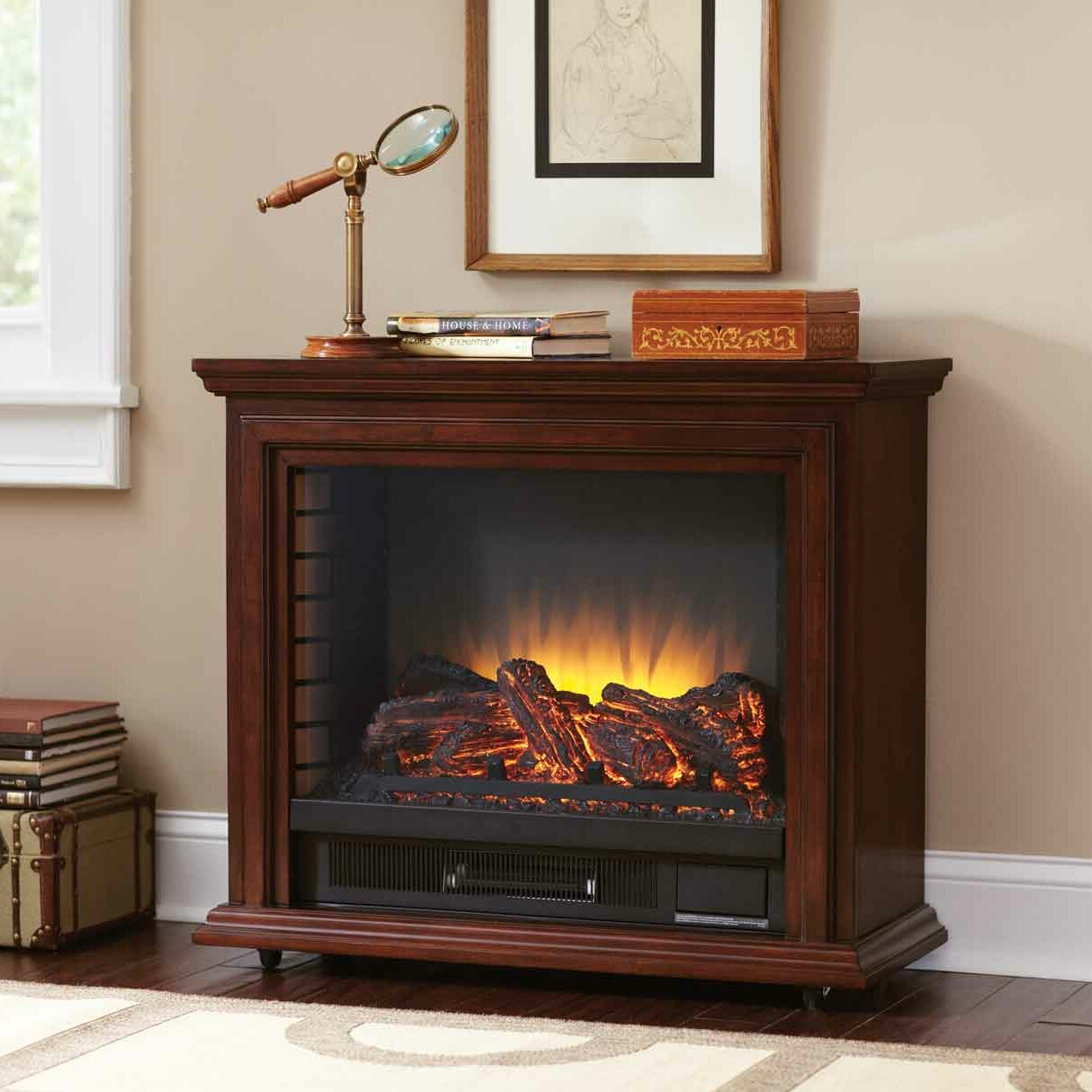 pleasant hearth mobile electric fireplace reviews wayfair