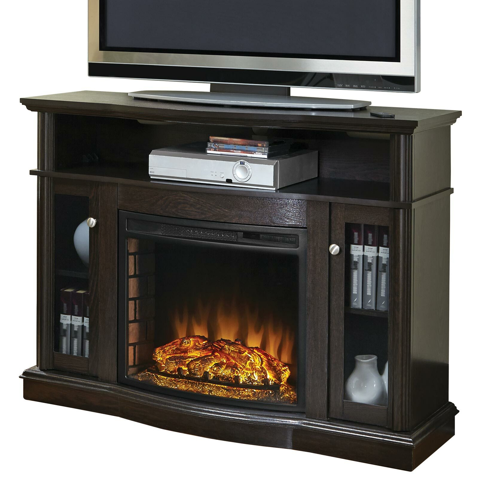 Pleasant Hearth Media Electric Fireplace Amp Reviews Wayfair