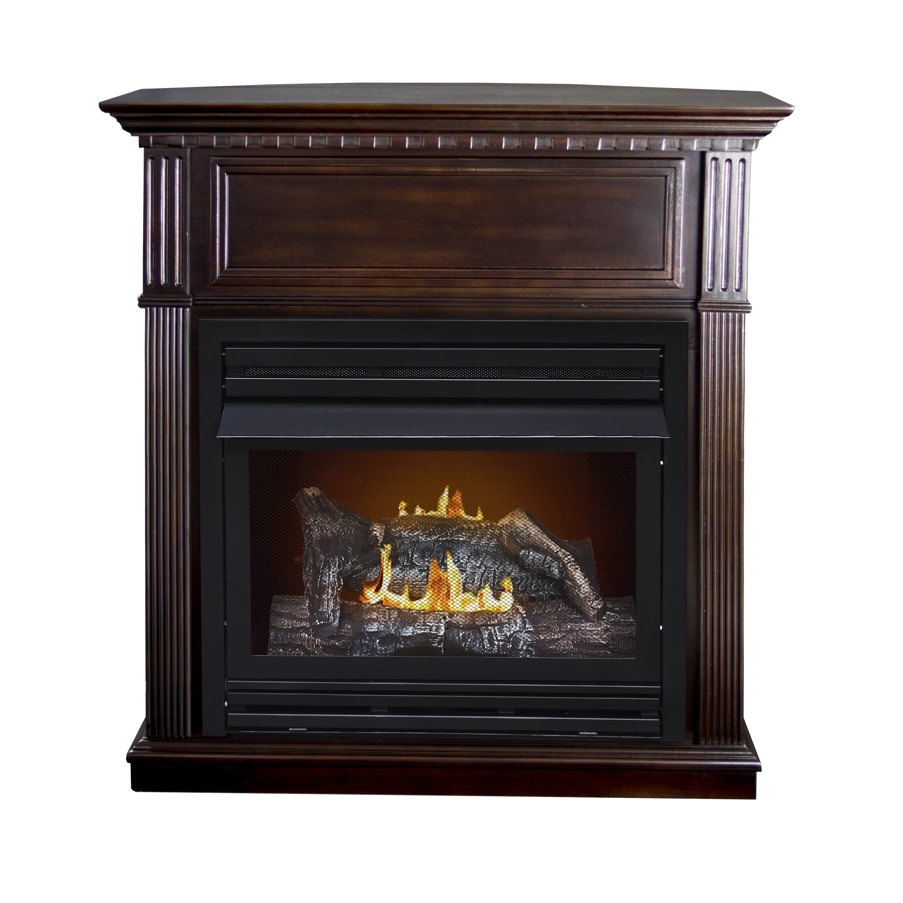 Pleasant Hearth Intermediate Vent Free Dual Fuel Natural Gas Fireplace Reviews Wayfair