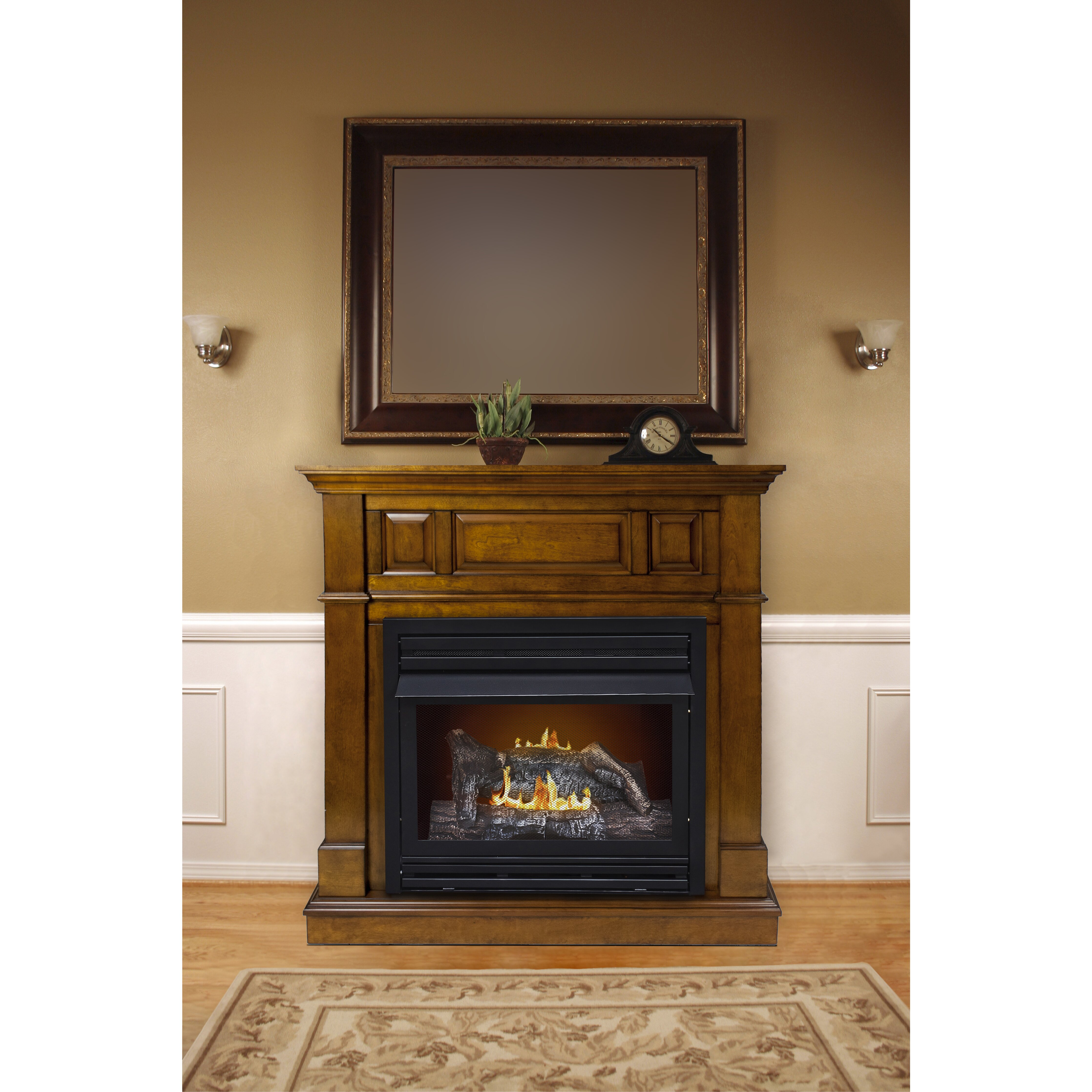 Pleasant Hearth Dual Fuel Vent Free Natural Gas Fireplace