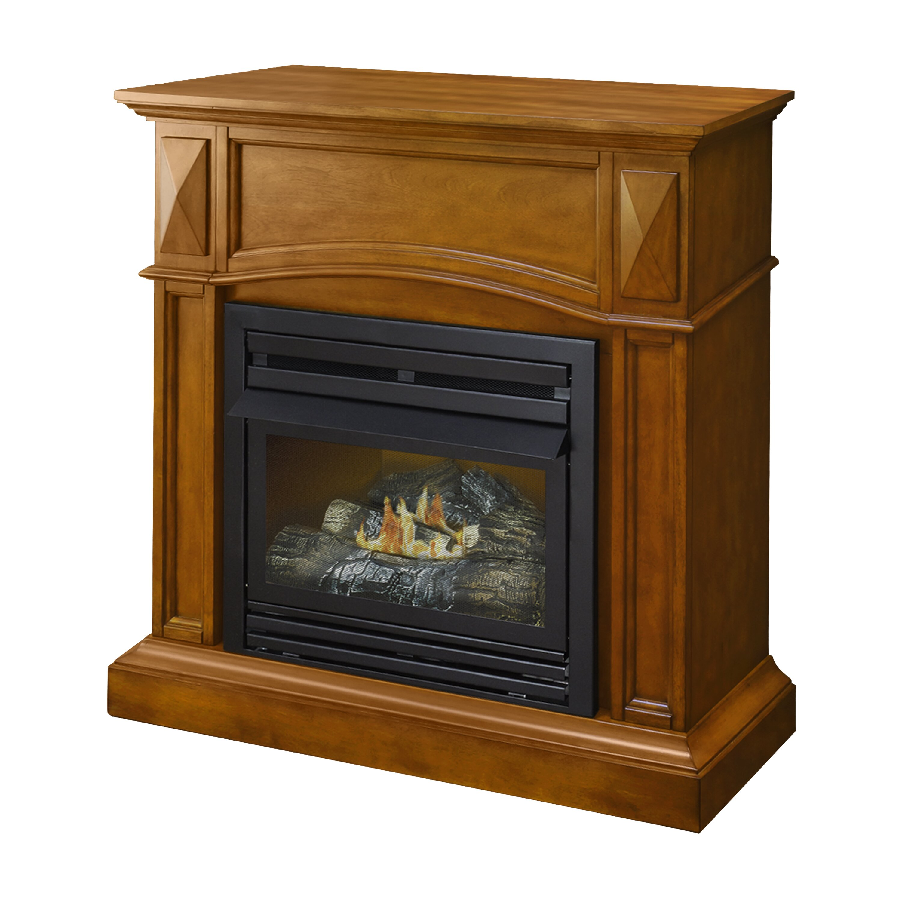 Pleasant Hearth Compact Vent Free Dual Fuel Gas Fireplace Reviews Wayfair