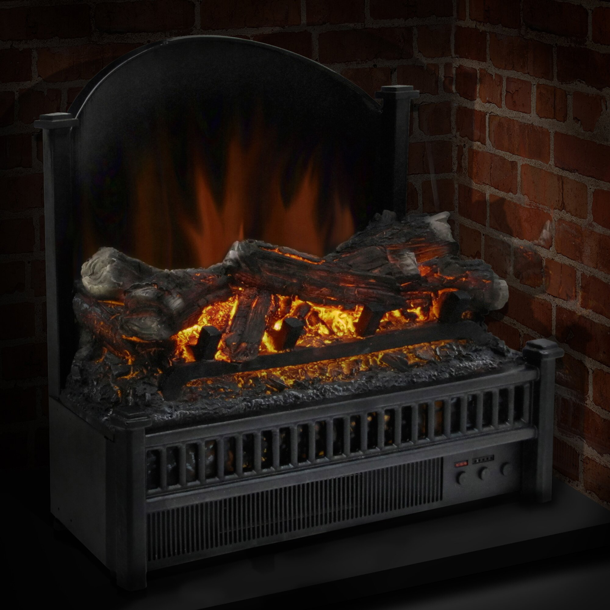 Pleasant Hearth Electric Fireplace Logs Heater & Reviews ...