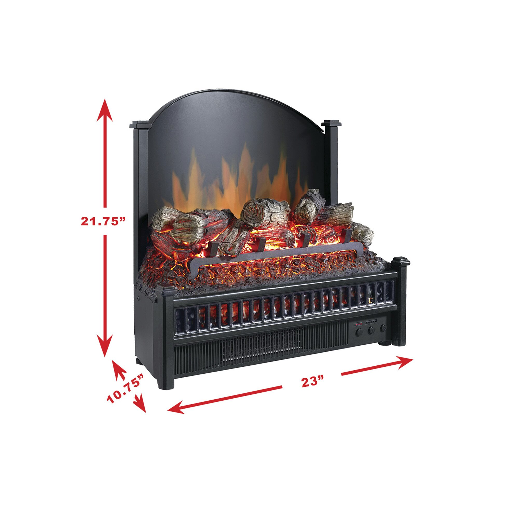 Electric Chair Heater Pleasant Hearth Electric Fireplace Logs Heater & Reviews ...
