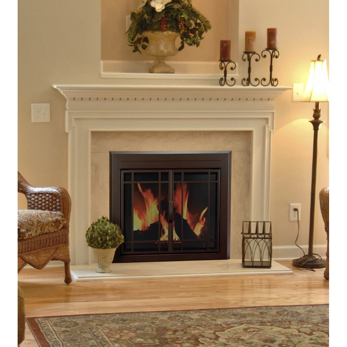 Hearth Cabinet Fireplaces: Pleasant Hearth Enfield Prairie Cabinet Style Fireplace