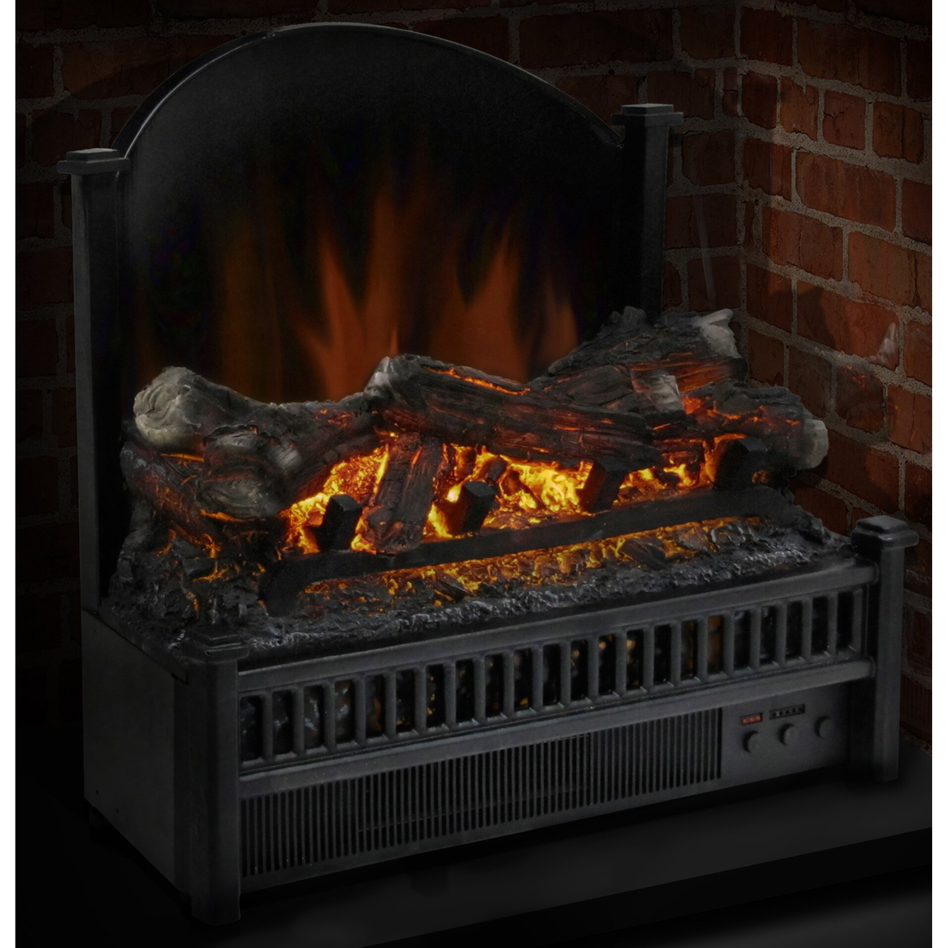 pleasant hearth electric fireplace logs heater reviews