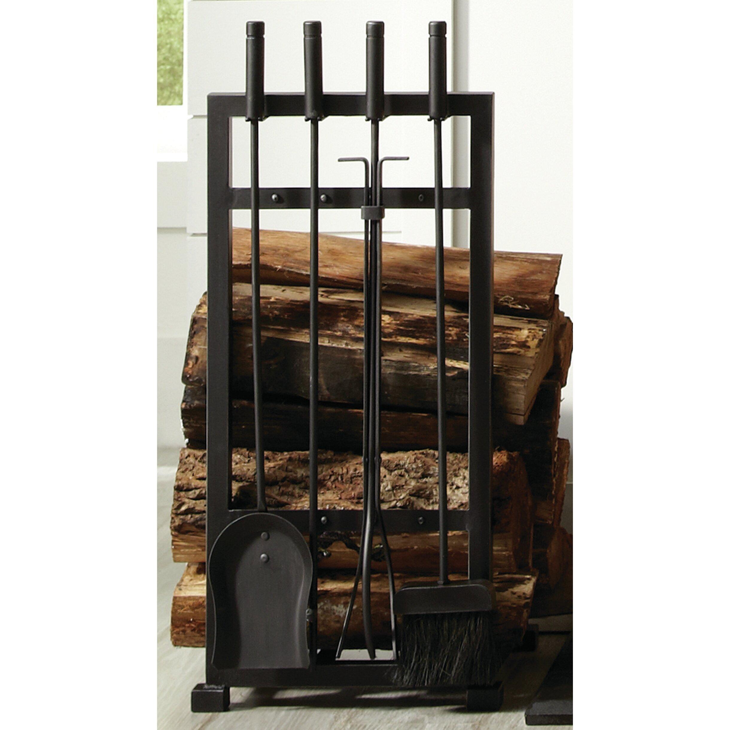 cast iron fire grate fireside log basket fireplace holder by home - Fireplace Log Holder