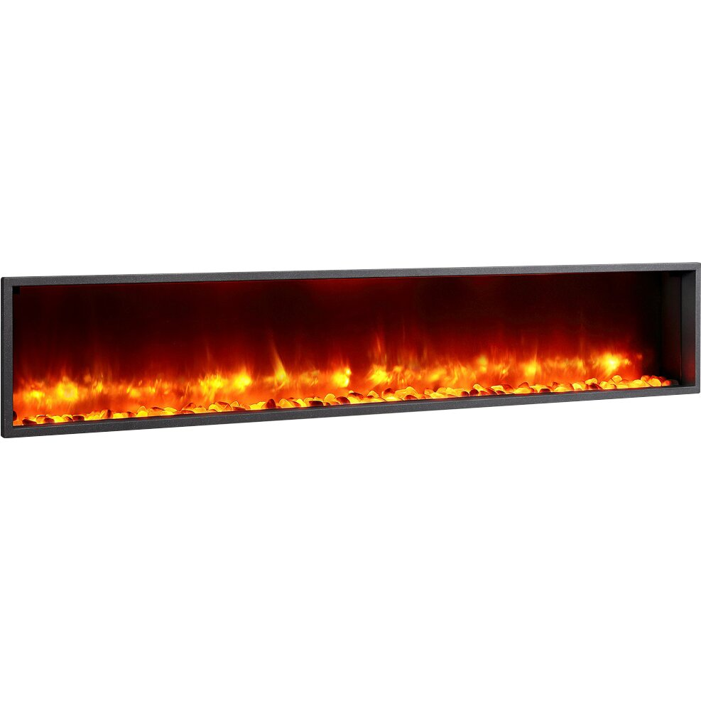 Dynasty 79 Quot Built In Led Wall Mount Electric Fireplace
