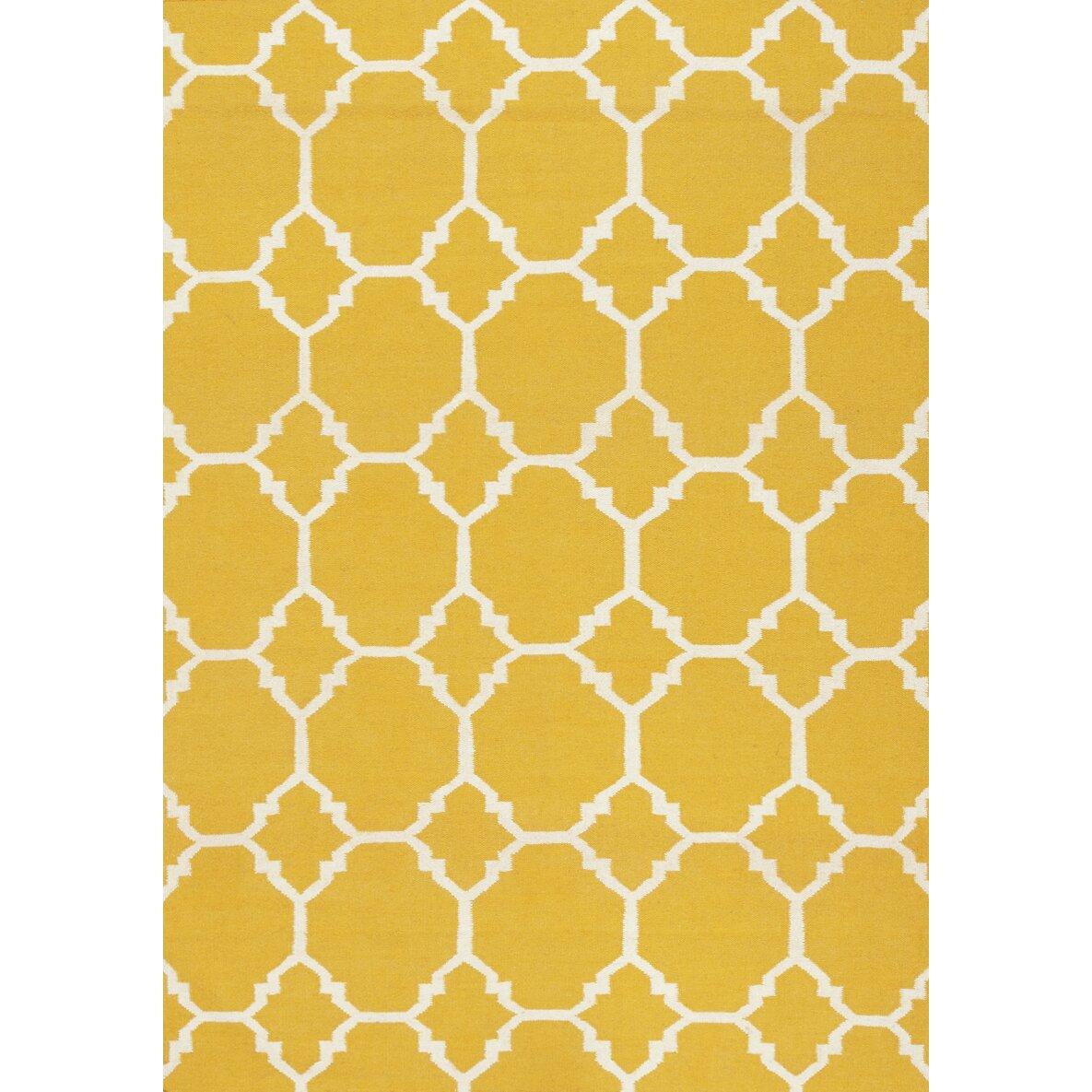 kalora raja yellow moroccan yellow white area rug. Black Bedroom Furniture Sets. Home Design Ideas