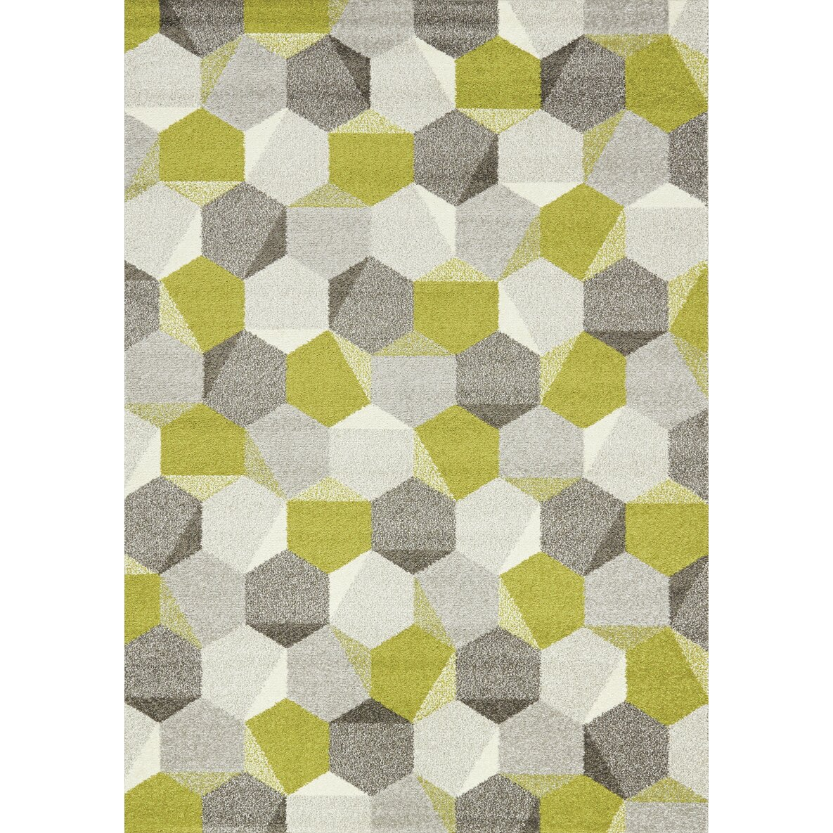 Lime Green Grey Area Rug: Kalora Camino Gray/Green Area Rug & Reviews
