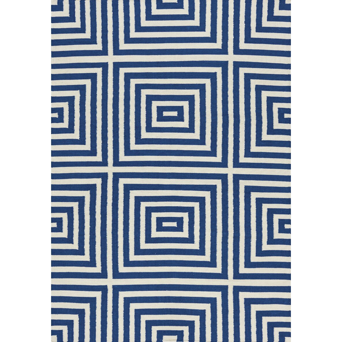 Kalora Shore Optical Illusion Flatweave White Amp Navy