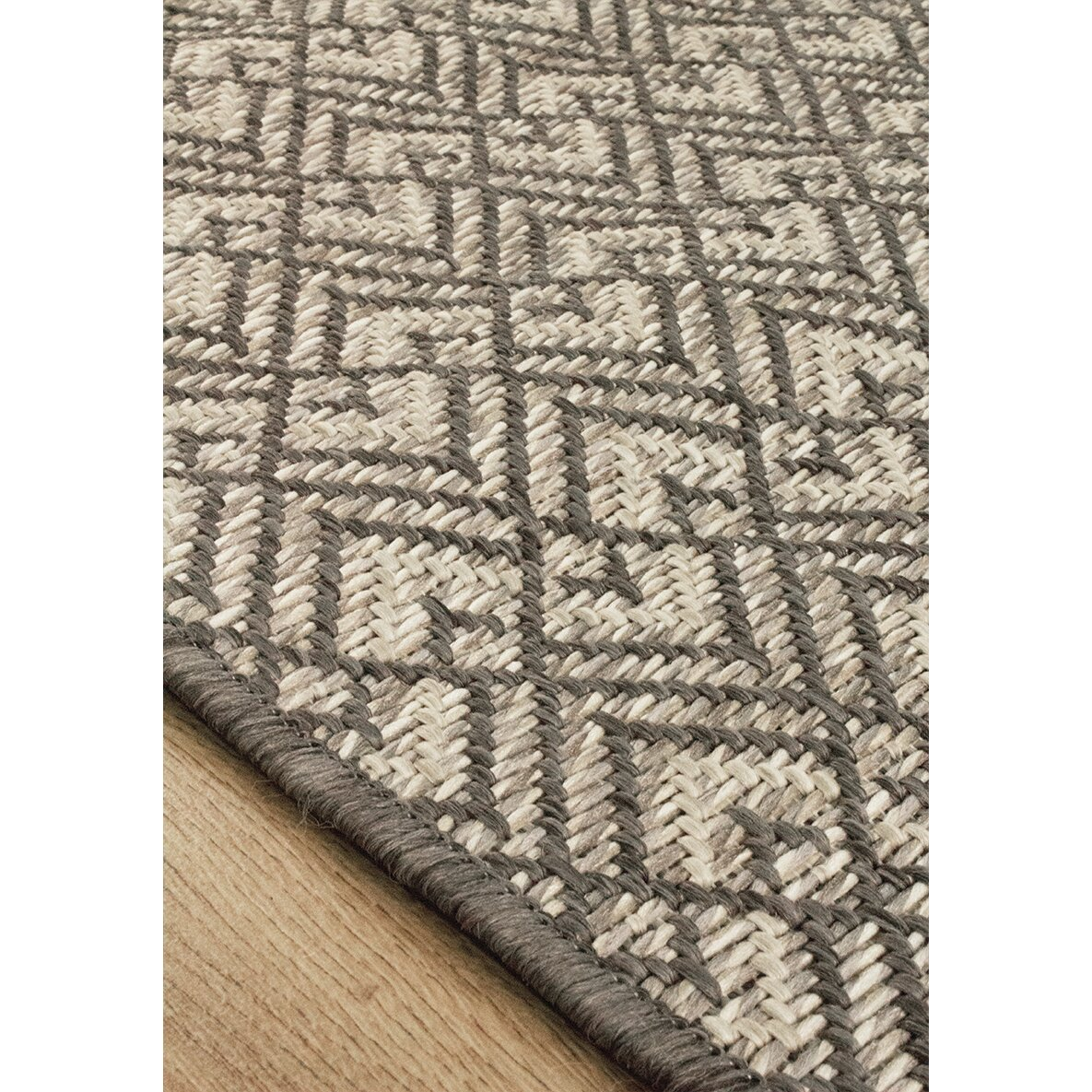 Kalora coast gray tan area rug wayfair for Grey and tan rug