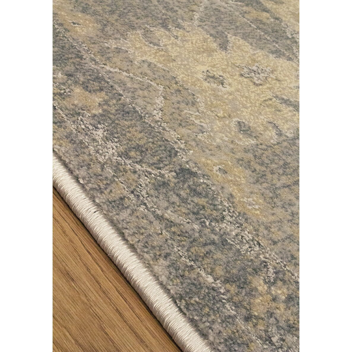 Kalora coventry gray beige area rug wayfair for Grey and tan rug