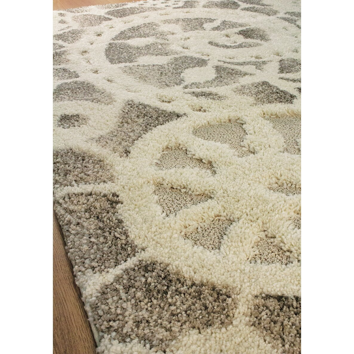 Kalora Olympia Grey Cream Area Rug Wayfair Ca
