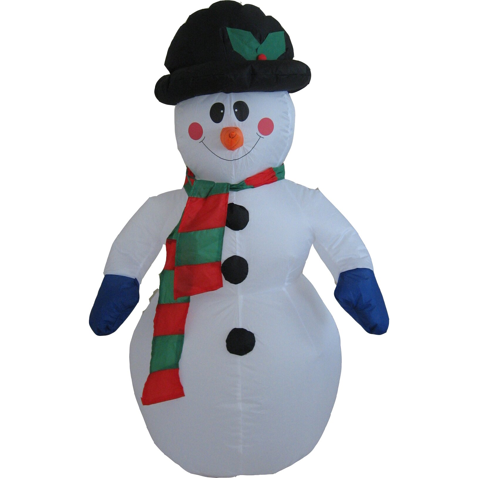 Hometime snowtime illuminated inflatable snowman christmas for Inflatable christmas decorations