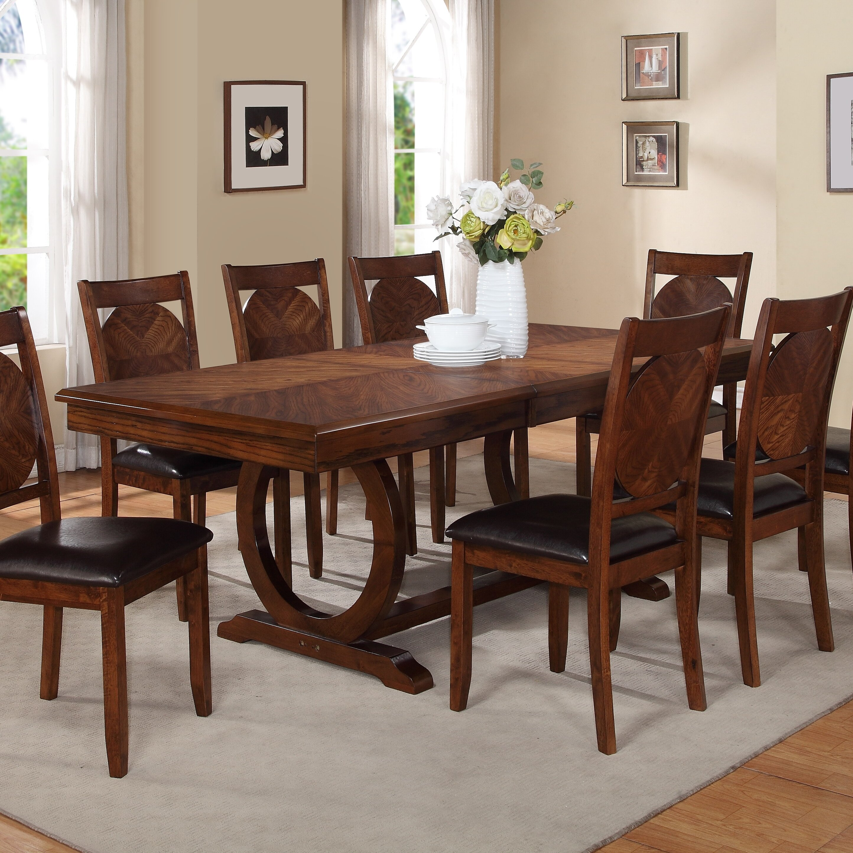 World menagerie kapoor extendable dining table reviews for Kitchen dining room chairs