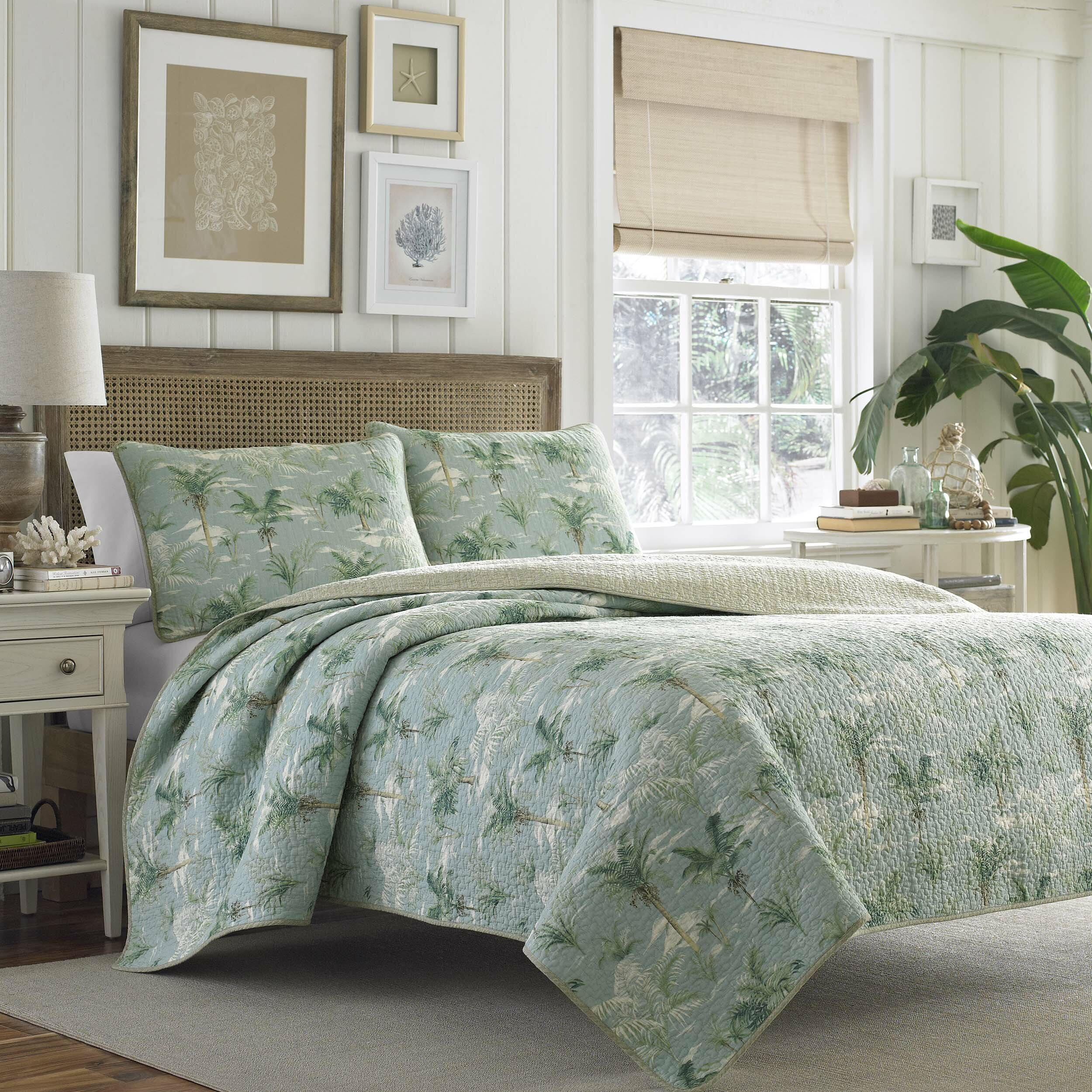 Tommy Bahama Bedding Anglers Isle Reversible Quilt Set