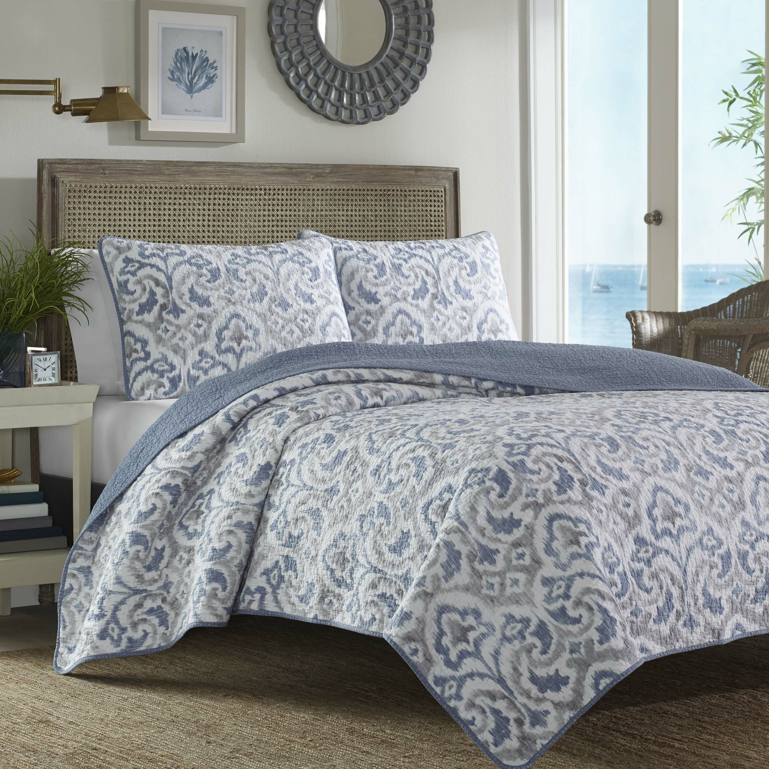 Tommy bahama bedding cape verde reversible quilt set Tommy bahama bedding