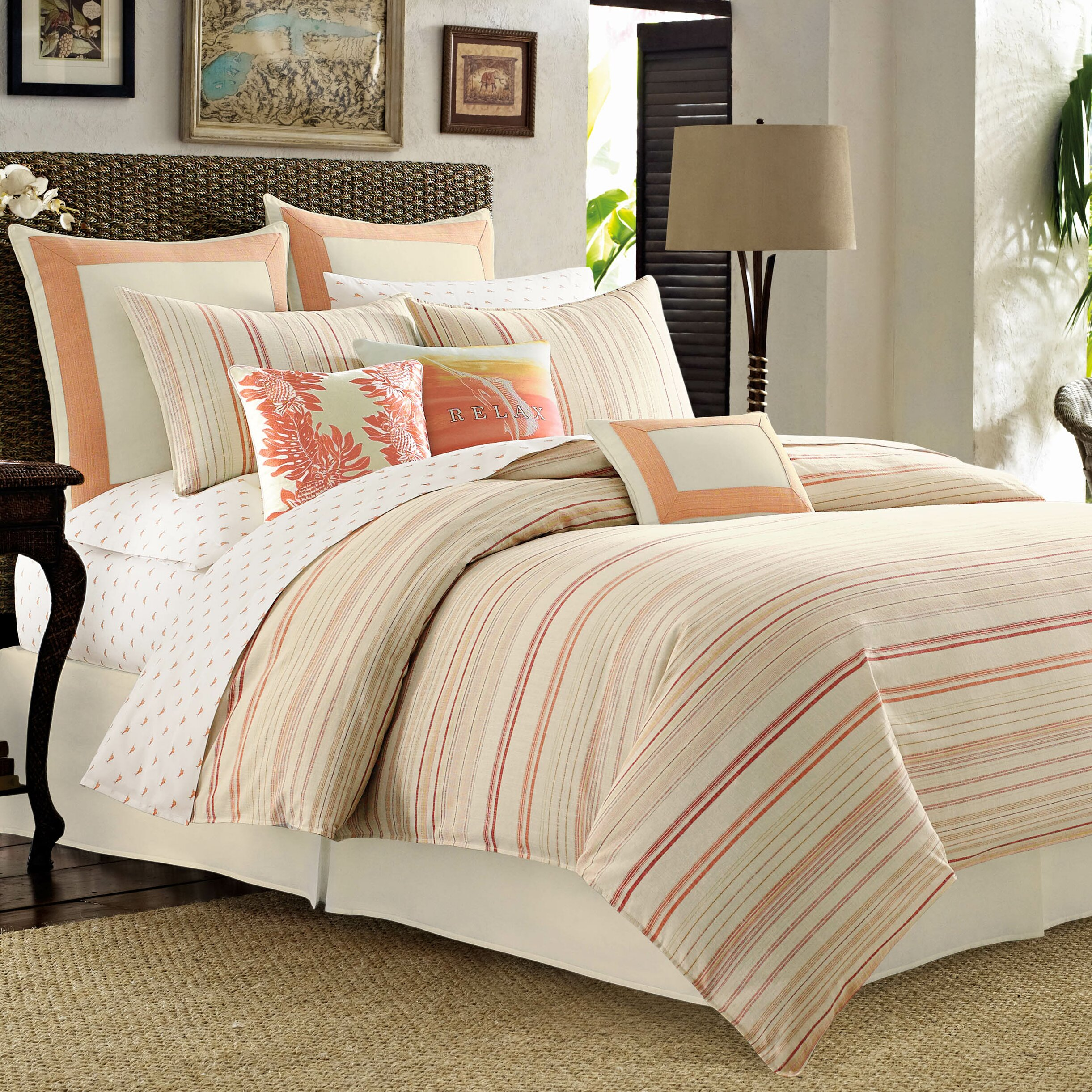 Tommy bahama bedding la scala breezer comforter collection Tommy bahama bedding