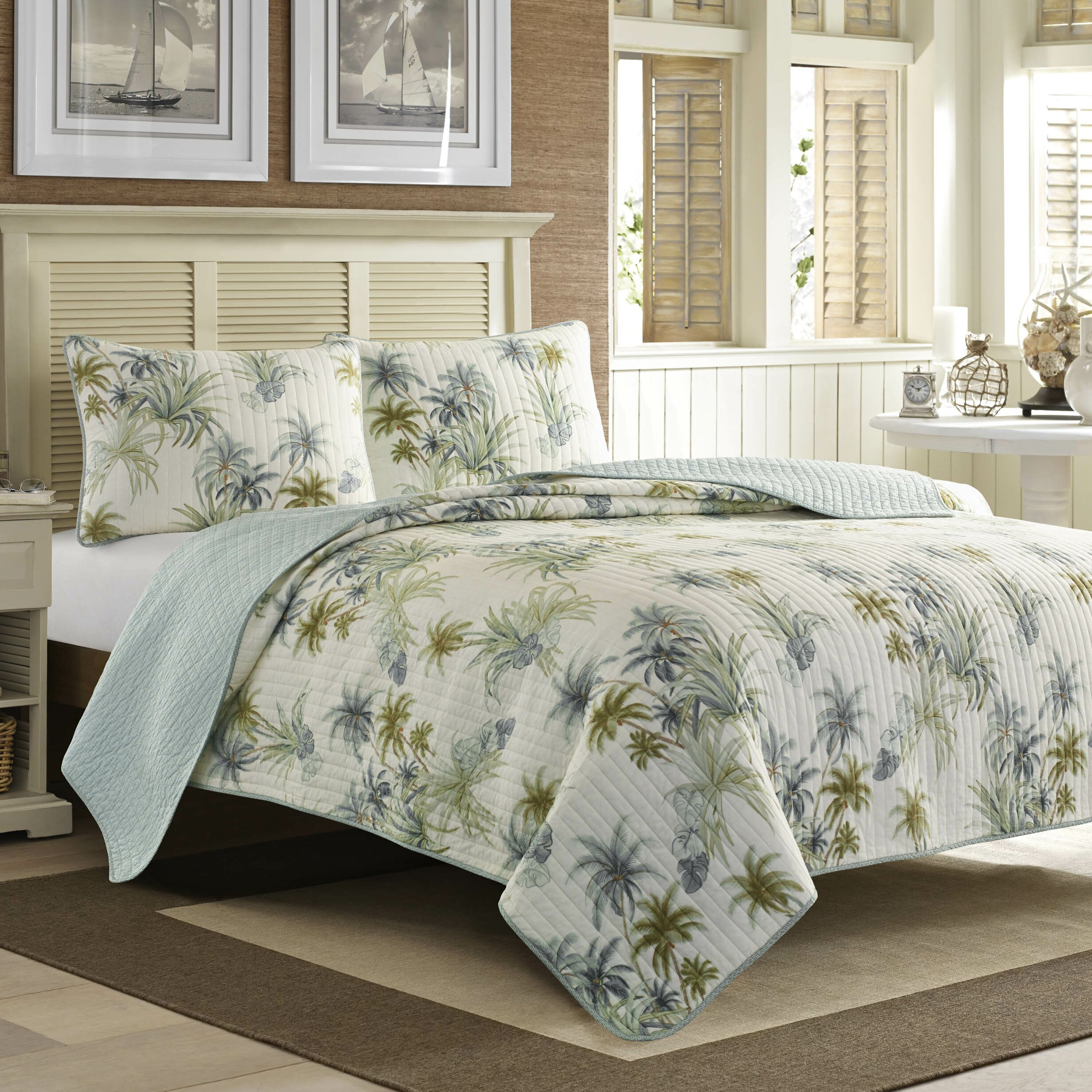 Tommy Bahama Bedding Serenity Palms Quilt Collection
