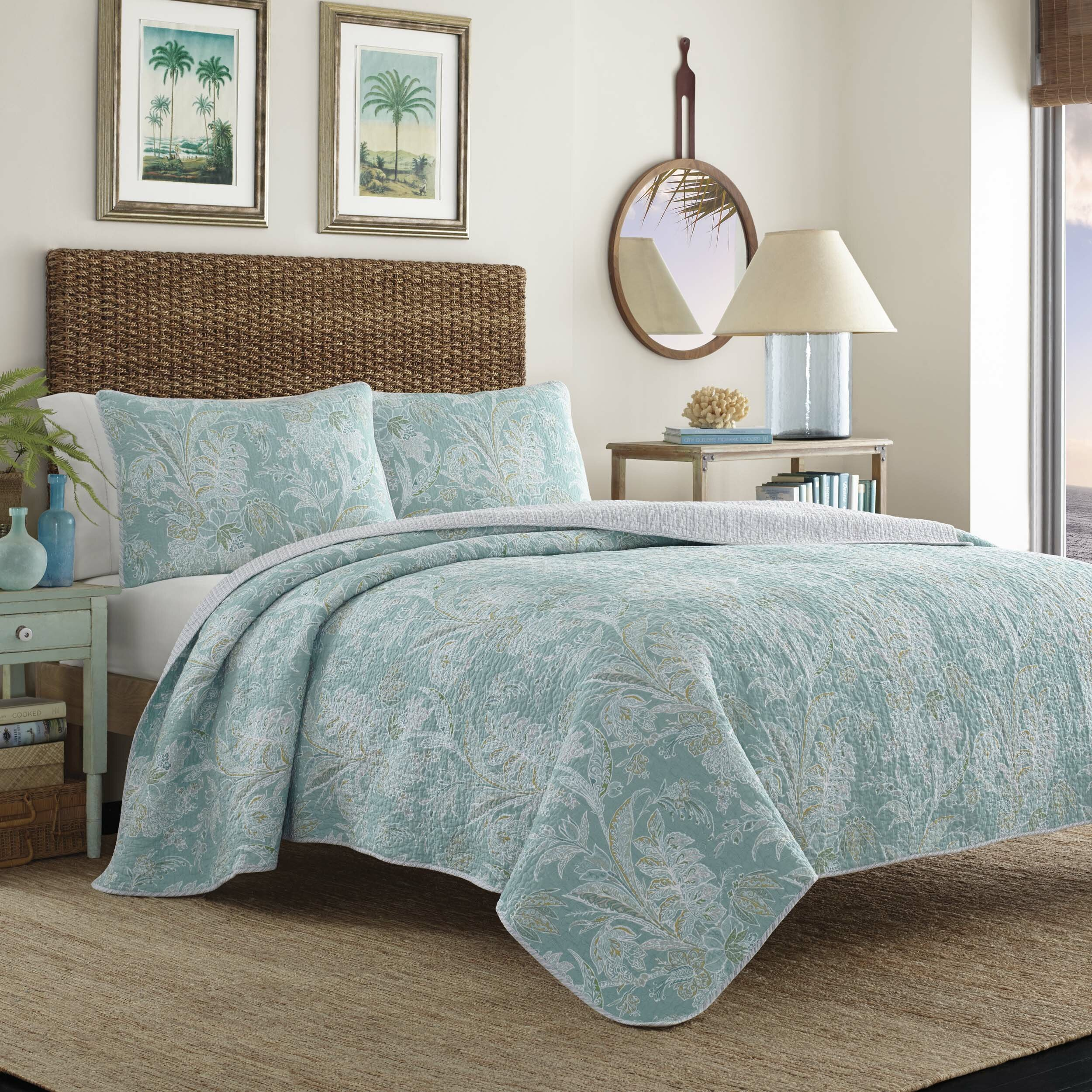 Tommy Bahama Bedding Tiki Bay Reversible Quilt Set