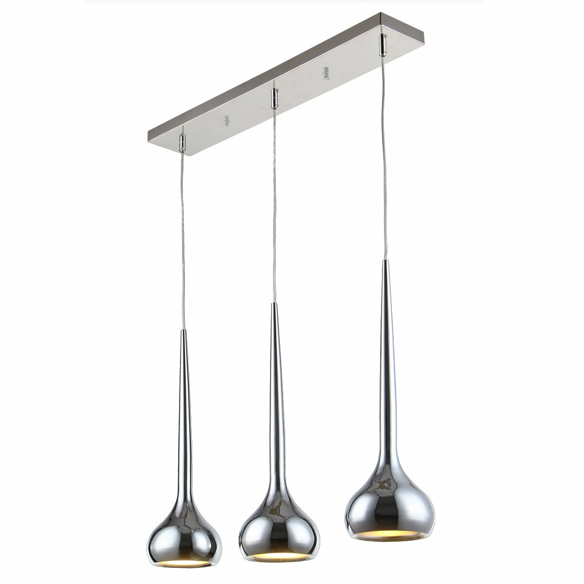 Bromi design wade 3 light kitchen island pendant reviews for Pendants lights for kitchen island