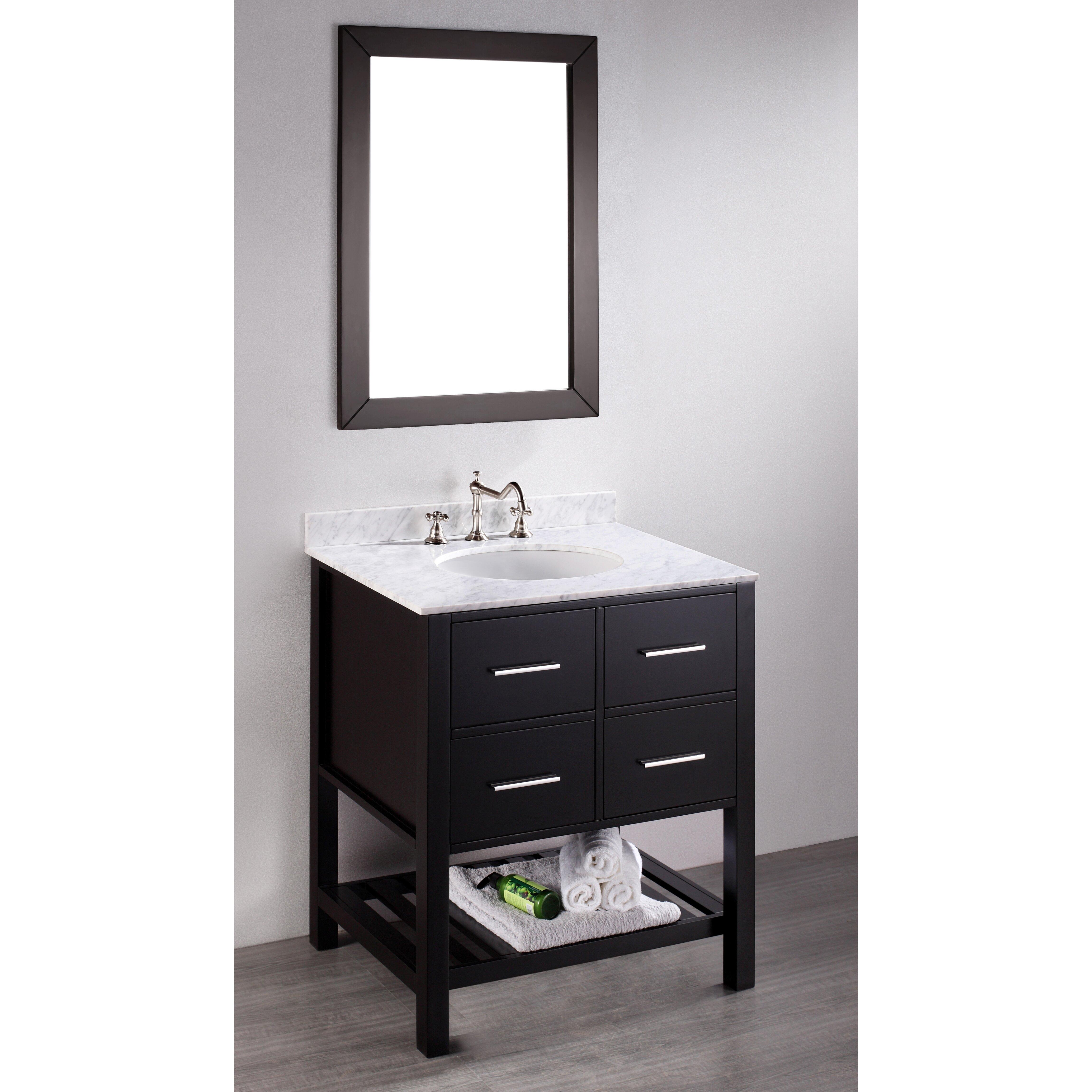 Bosconi Contemporary 30 Single Bathroom Vanity Set With Mirror Reviews Wayfair