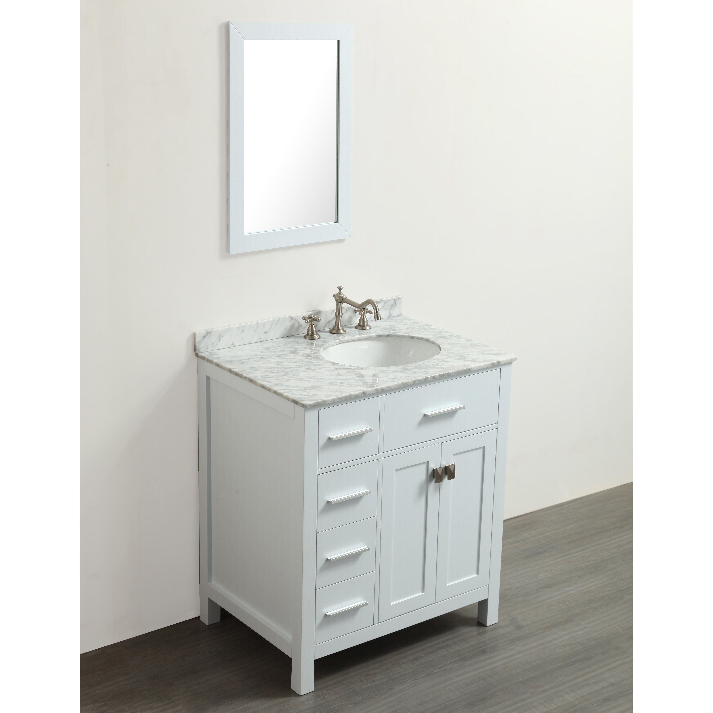 bosconi 30 single bathroom vanity set with mirror wayfair