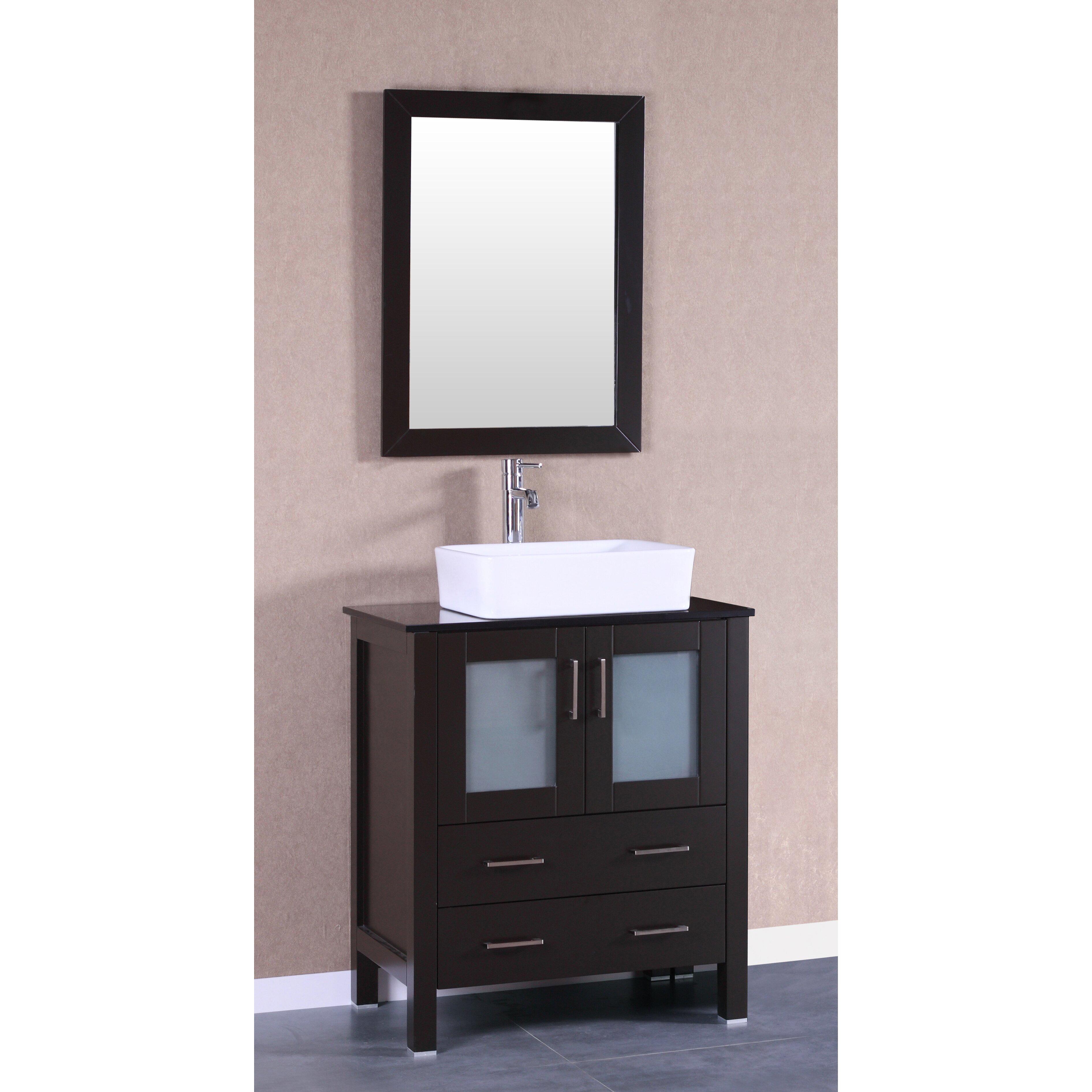 Bosconi 30 Single Vanity Set With Mirror Wayfair
