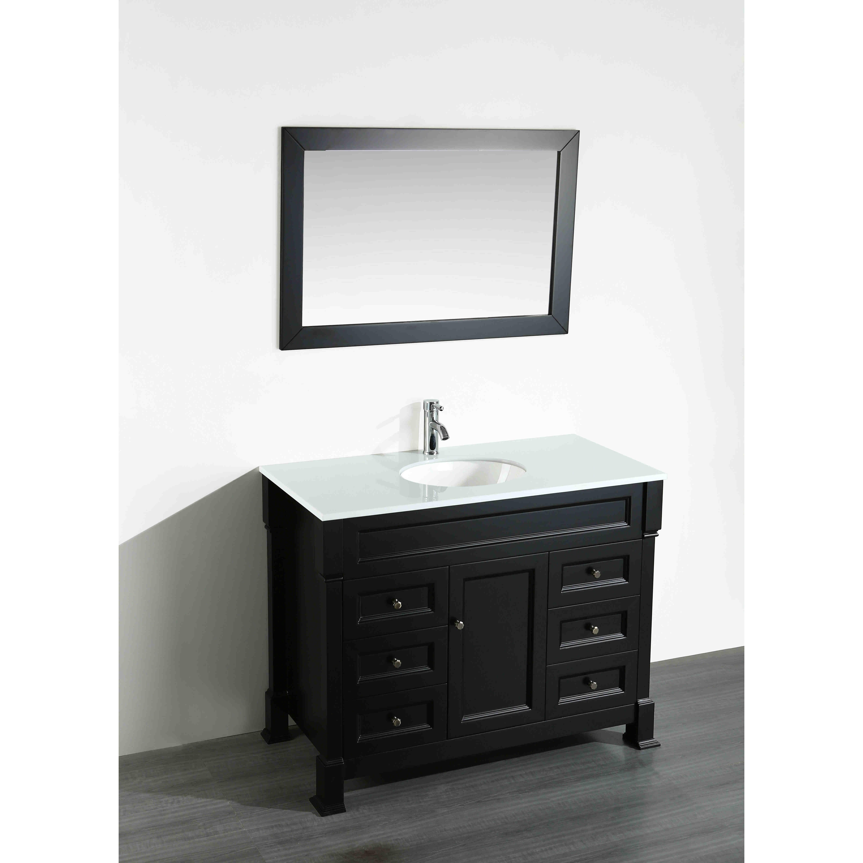 bosconi 43 3 single bathroom vanity set with mirror wayfair
